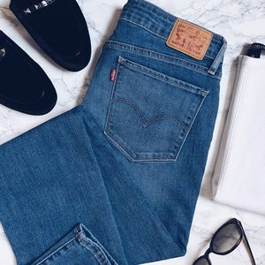 Levi's | 712 slim fit light wash denim jeans
